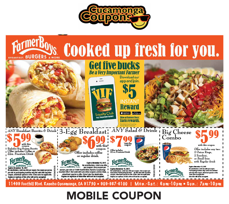 Food ride coupons october 22